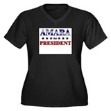 AMARA for president Women's Plus Size V-Neck Dark
