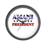 AMANI for president Wall Clock