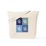 Marijuana (blue boxes) Tote Bag