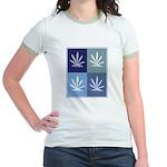 Marijuana (blue boxes) Jr. Ringer T-Shirt