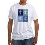 Marijuana (blue boxes) Fitted T-Shirt