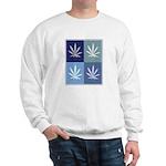 Marijuana (blue boxes) Sweatshirt
