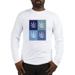 Marijuana (blue boxes) Long Sleeve T-Shirt