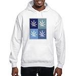 Marijuana (blue boxes) Hooded Sweatshirt