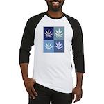 Marijuana (blue boxes) Baseball Jersey