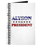 ALYSON for president Journal