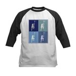 Lacrosse (blue boxes) Kids Baseball Jersey