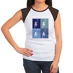 Lacrosse (blue boxes) Women's Cap Sleeve T-Shirt