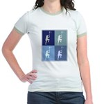 Lacrosse (blue boxes) Jr. Ringer T-Shirt