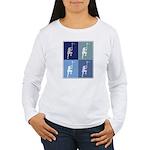 Lacrosse (blue boxes) Women's Long Sleeve T-Shirt
