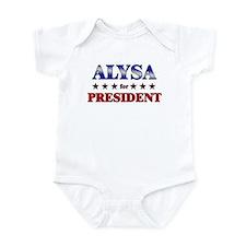 ALYSA for president Onesie
