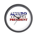 ALVARO for president Wall Clock