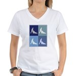 Garden (blue boxes) Women's V-Neck T-Shirt