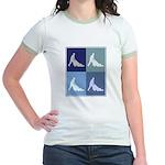 Garden (blue boxes) Jr. Ringer T-Shirt