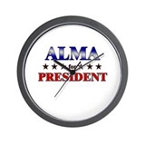 ALMA for president Wall Clock