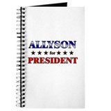 ALLYSON for president Journal