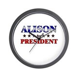 ALISON for president Wall Clock
