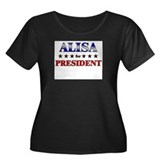 ALISA for president Women's Plus Size Scoop Neck D