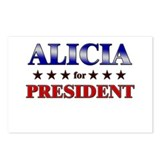 ALICIA for president Postcards (Package of 8)