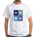 Canadian (blue boxes) White T-Shirt
