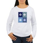 Canadian (blue boxes) Women's Long Sleeve T-Shirt