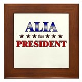 ALIA for president Framed Tile