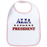 ALIA for president Bib