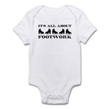 Footwork Skates Black Infant Bodysuit