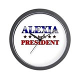 ALEXIA for president Wall Clock