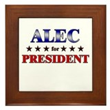ALEC for president Framed Tile