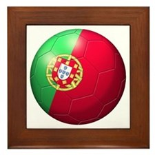 Portuguese Soccer Ball Framed Tile