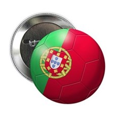 "Portuguese Soccer Ball 2.25"" Button (10 pack)"