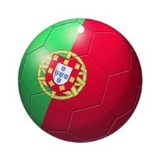 Portuguese Soccer Ball Ornament (Round)
