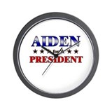 AIDEN for president Wall Clock