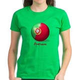 Portugal Flag Soccer Ball Tee