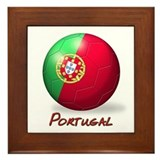 Portugal Flag Soccer Ball Framed Tile