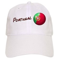 Portugal Flag Soccer Ball Baseball Cap