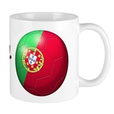 Portugal Flag Soccer Ball Mug