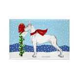 Great Dane White Mail Rectangle Magnet