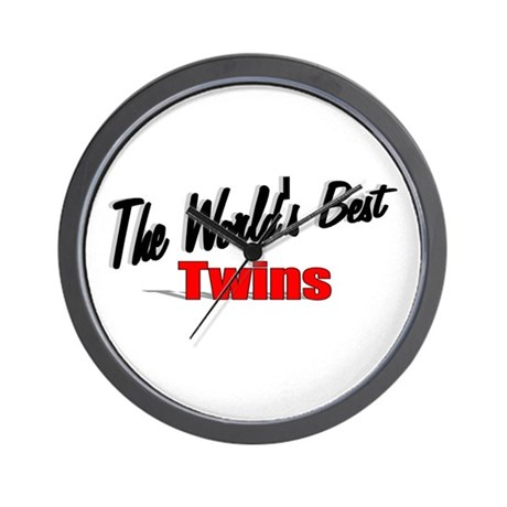 """The World's Best Twins"" Wall Clock"