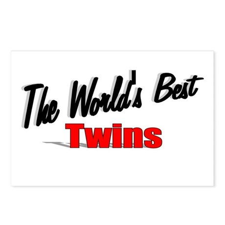 """The World's Best Twins"" Postcards (Package of 8)"