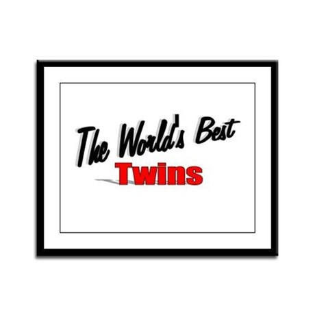 """The World's Best Twins"" Framed Panel Print"