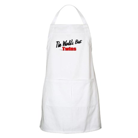 """The World's Best Twins"" BBQ Apron"