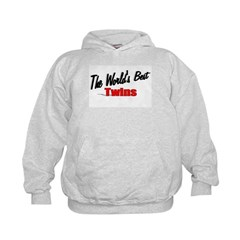 """The World's Best Twins"" Kids Hoodie"