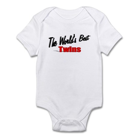 """The World's Best Twins"" Infant Bodysuit"