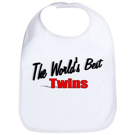 """The World's Best Twins"" Bib"