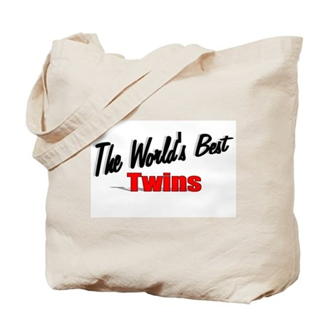 """The World's Best Twins"" Tote Bag"