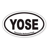 Yosemite National Park YOSE Euro Oval Decal