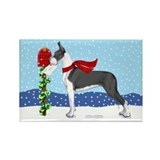 Great Dane Mantle Mail Rectangle Magnet