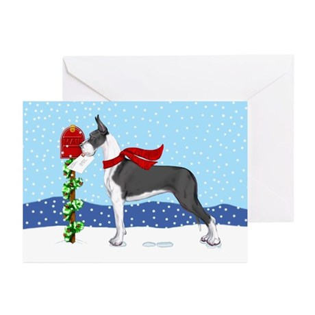 Great Dane Mantle Mail Greeting Cards (Pk of 20)